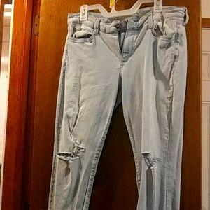 Arizona Light Wash Skinny Destroyed Juniors Jeans